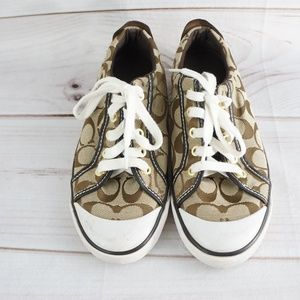Coach Canvas Tennis Sneakers 7.5 Shoes